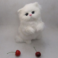 Wholesale Cute Small Simulation Cat Toy Mini Cat Doll Car Decorations Gift Doll Home Decoration 14