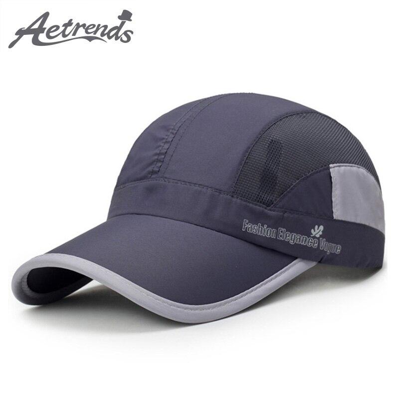 6e64de42b8d8d  AETRENDS  Breathable Mesh Cap Summer Baseball Caps Men Women 5 Panel Cap  Golf Hats