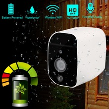 DAYTECH بطارية تعمل بالطاقة 1080P كاميرا ip لاسلكية واي فاي 2MP HD كاميرا مراقبة مقاوم للماء CCTV داخلي في الهواء الطلق الأشعة تحت الحمراء تسجيل الصوت
