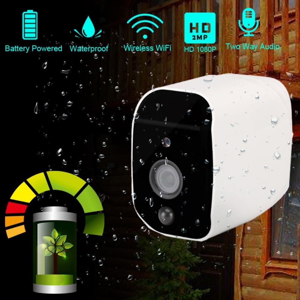 DAYTECH Battery Powered 1080P Wireless IP Camera WiFi 2MP HD Surveillance Camera Waterproof CCTV Indoor Outdoor IR Record Audio Surveillance Cameras     - title=