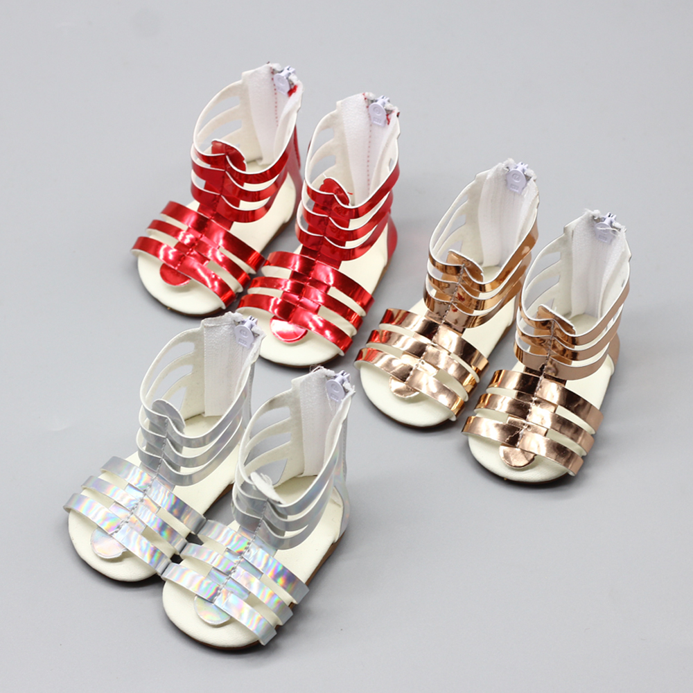 New American Girl Doll Sandals fashion summer shoes for 43cm zapf Doll 1 3doll