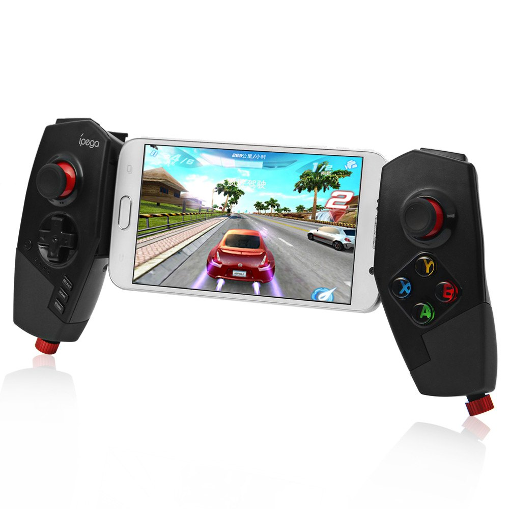 HOT IPEGA PG-9055 Wireless Bluetooth 3.0 Game Controller Joystick with Stretch Bracket for iOS ipad Android Smartphone TV Box