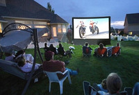 Giant Outdoor Inflatable Movie Screen For Sale Open Air Cinema 4 2m Home Projector Screen With