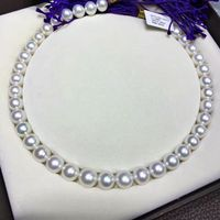 classic round huge 12 14mm south sea white pearl necklace>>>girls for women jewerly Free shipping