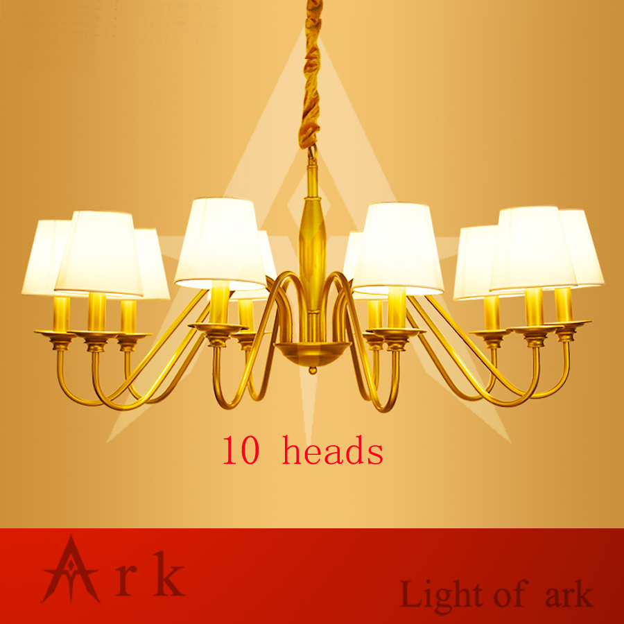 ARK LIGHT iron art minimalist rural Nordic restaurant bedroom led European-style chandelier LED 10 heads light living room цена и фото
