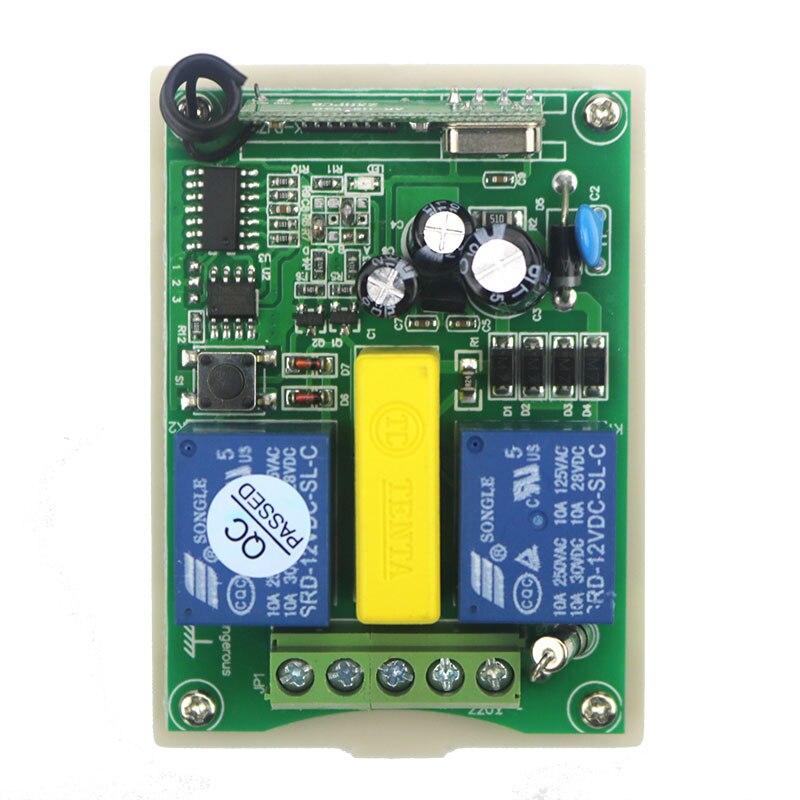 AC220V intelligent numérique RF sans fil télécommande interrupteur système travail indépendamment écran de projection et porte de garage et stores-in Télécommandes from Electronique    3