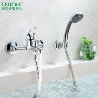 LF56V120 single level Bath mixer water tap bathroom single handle cold and hot water hot cold tap bathroom mixer Bathtub Faucets
