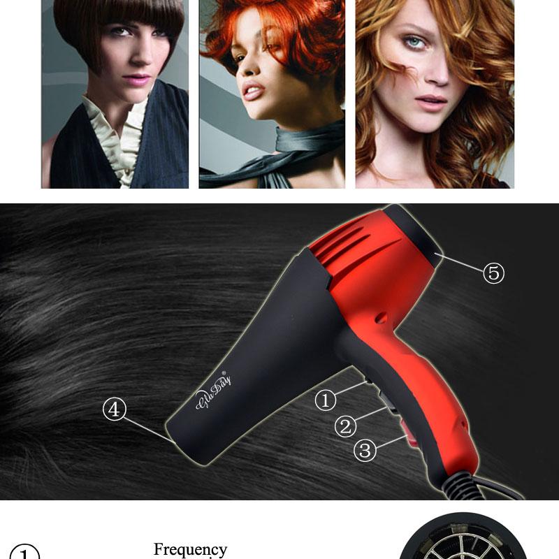 Secador de cabelo profissional elétrico, para cabeleireiro,