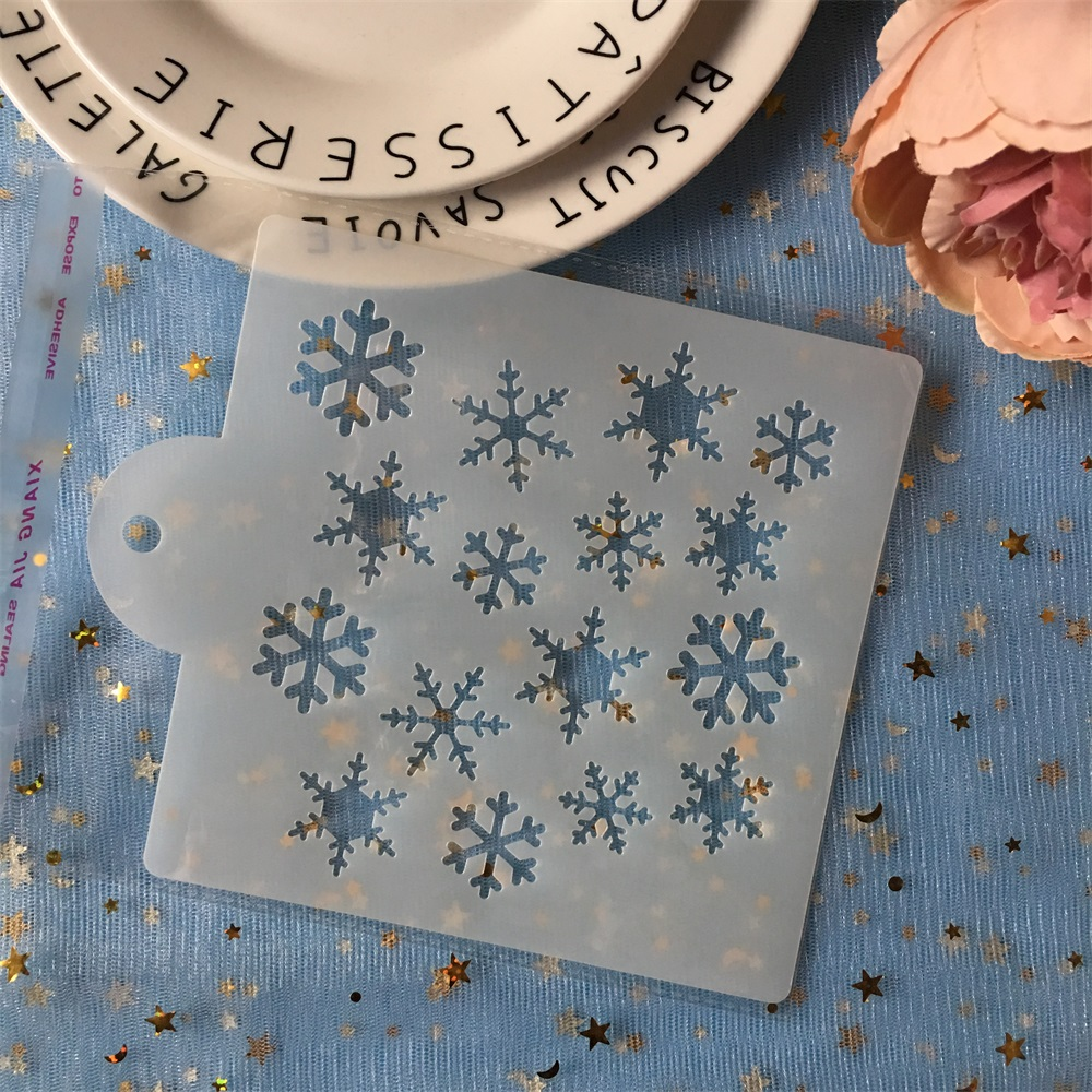 New 15cm Snowflake DIY Layering Stencils Painting Scrapbook Coloring Embossing Album Decorative Card Template