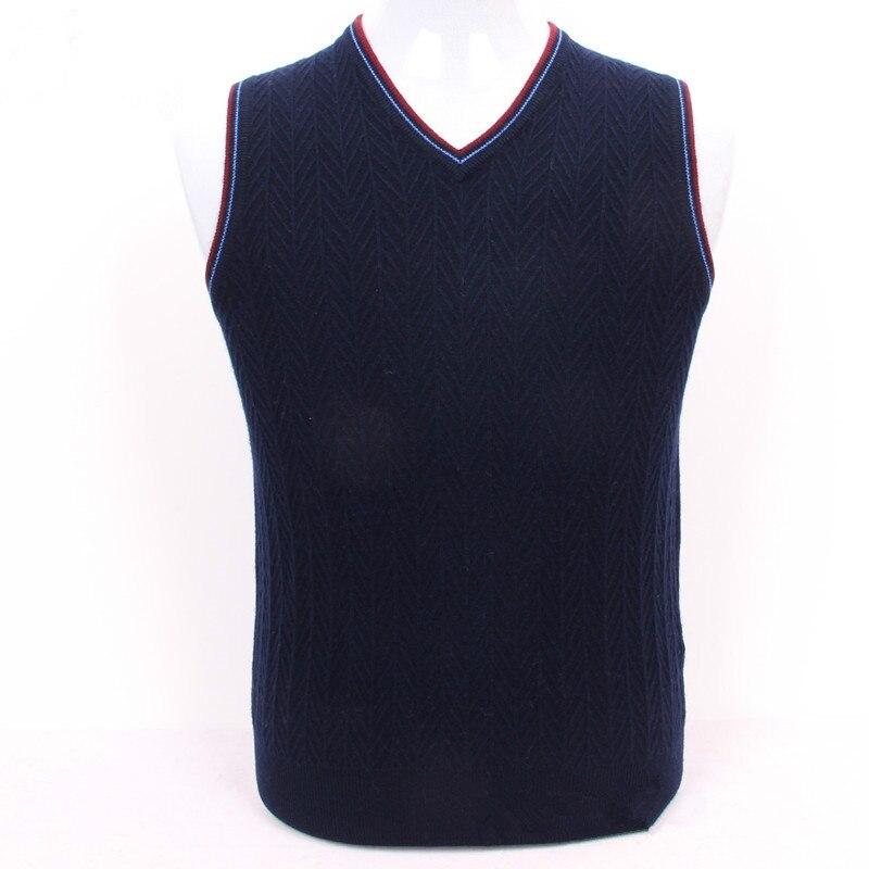 100% capra cashmere maglia degli uomini di maglione twill di papà pullover beige 4 colori di grandi dimensioni S/105-3XL/130