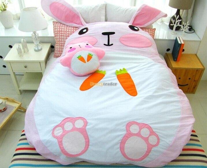 Fancytrader 195 см X 165 см супер милый огромный гигантский диван кровать с кроликом для 2 человек Бесплатная доставка FT90190