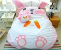 Fancytrader 195cm X 165cm Super Cute Giant Huge Rabbit Bed Carpet Sofa for 2 persons Free Shipping FT90190