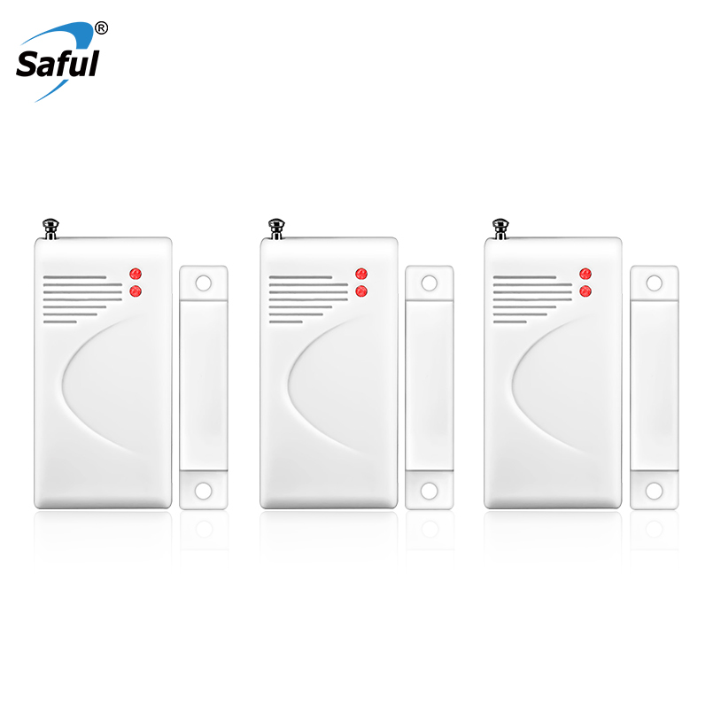 Saful 433MHZ Wireless Door Window Sensor Detector With Antenna GSM Security alarm System without battery China Detector Supplier