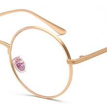 7c0ceae9b Kachawoo الأزياء ريترو جولة إطار معدني دائري النظارات إطار النساء الذهب  اكسسوارات نظارات خمر الرجال الطالب الذي يذاكر كثيرا للجن.