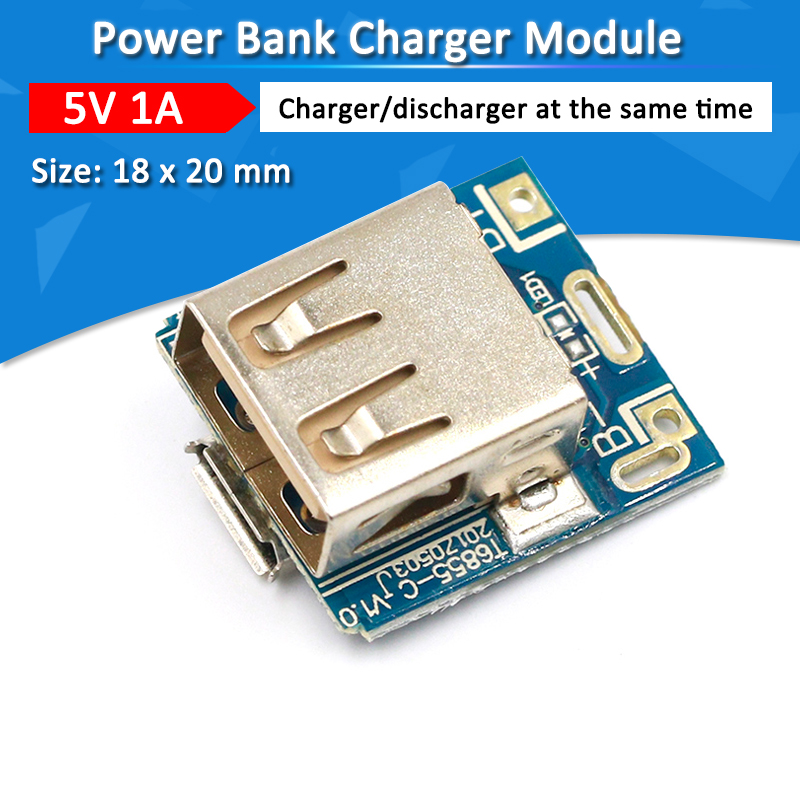 Mini 5V 1A Power Bank Charger Circuit Board Charging Step Up Boost Power Module 1S/2S Case Shell 18650 Lithium Battery DIY KitMini 5V 1A Power Bank Charger Circuit Board Charging Step Up Boost Power Module 1S/2S Case Shell 18650 Lithium Battery DIY Kit