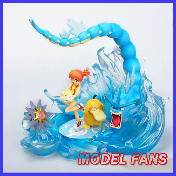 MODEL FANS IN-STOCK 16cm pokemon Pocket Monsters Gyarados GK resin made for Collection(not contain Misty ) model fans in stock 23cm pokemon snorlax gk resin made figure toy for collection