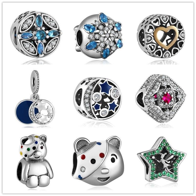 vruće 925 srebro Europski kubni cirkonij Charm perle Fit Pandora - Modni nakit - Foto 2