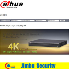 Dahua 8/16CH 1U 4K NVR4208/4216-8P-4K H.265 Network Video Recorder POE 2 SATA HDDs up to 12TB, P2P QR Code Scan & Add Up to 12MP