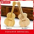 YUFANYF de Madera/de Bambú Guitarra pen drive 512 GB USB Flash Drive 256 GB Naturales De Bambú Unidad Flash USB de 64 GB 32 GB 16 GB 8 GB memory stick