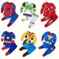Autumn winter new boys pajamas cartoon pyjama Avengers boys hero pijama set children home set cotton long sleeves pyjamas kids
