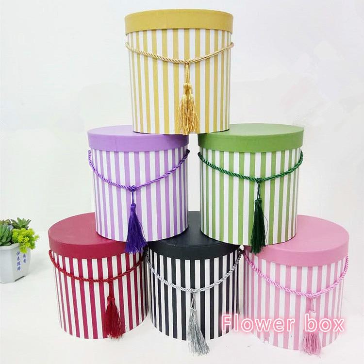 Nieuwe gepersonaliseerde strepen cilinder dozen bloembakken kan - Feestversiering en feestartikelen