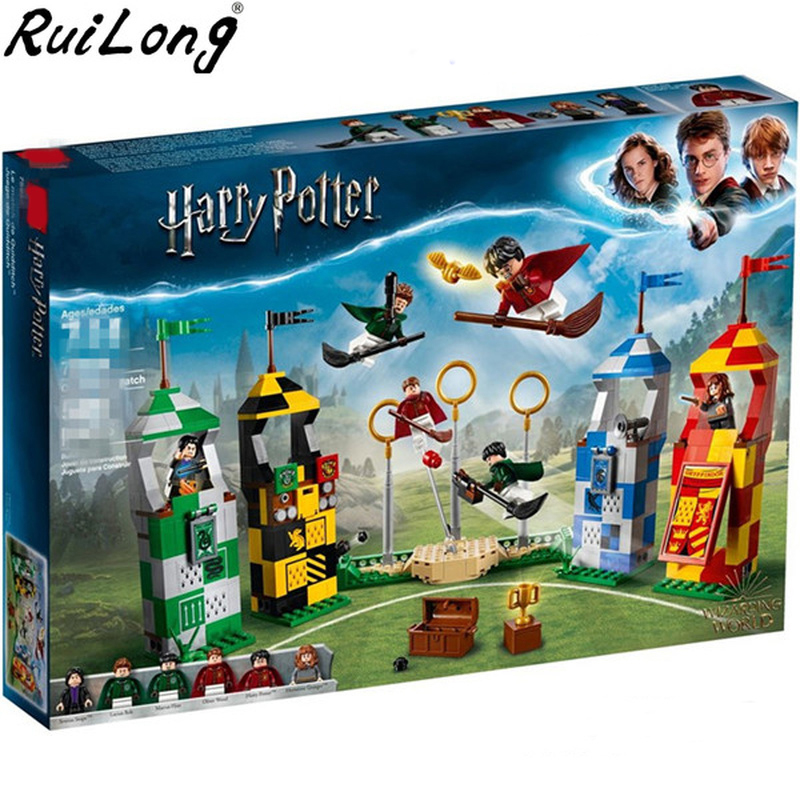 New Harry Potter Movie Quidditch Match Compatible With Legoings Harry Potter 75956 Building Bricks Blocks Toys Children GiftsNew Harry Potter Movie Quidditch Match Compatible With Legoings Harry Potter 75956 Building Bricks Blocks Toys Children Gifts