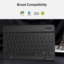 AVATTO Ultra-thin 7 Color LED Backlit Wireless Bluetooth Tablet Keyboard For Android, Mac OS, Windows Tablet  Phone