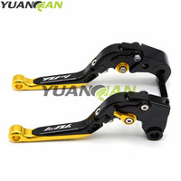 CNC Foldable&Extendable Brake Clutch Levers For YAMAHA YZF R1/R1M 2015 2016 Motorbike Accessories FOR YZF R1 LOGO