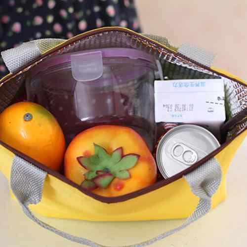 2019 comida quente fresco manter almoço refrigerador saco à prova dwaterproof água piquenique viagem armazenamento térmico isolado moda almoço sacos doces cor