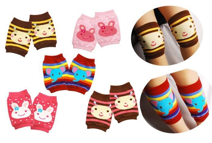 Мужская характер 5 пар/лот Хлопковые гольфы 5 цветов детские legwarmercrawler Ползучая Kneepad малыша Защитные ноги