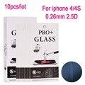 10 unids vidrio templado film protector de pantalla para iphone 4 4s película protectora