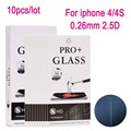 10pcs Tempered Glass Screen Protector Film for iphone 4 4S Protective Film