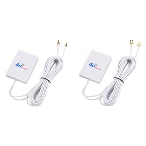 Image 3 - ダブル白 SMA 信号アンプネットワーク外部ケーブルブロードバンド空中垂直 WIFI TS 9 コネクタ LTE アンテナ 28DBI 4 グラム 3 グラム