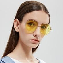 цена Pentagonal Sunglasses Women Small Frame Polygon Sunglasses Men Blue Pink Clear Lens Sun Glasses Female онлайн в 2017 году