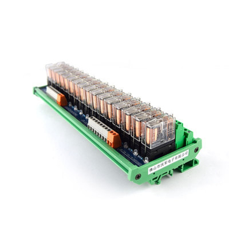 16-way relay module G2R-2 PLC amplifier board relay board relay module 24V12v compatible NPN/PNP fused 4 dpdt 5a power relay interface module g2r 2 12v dc relay