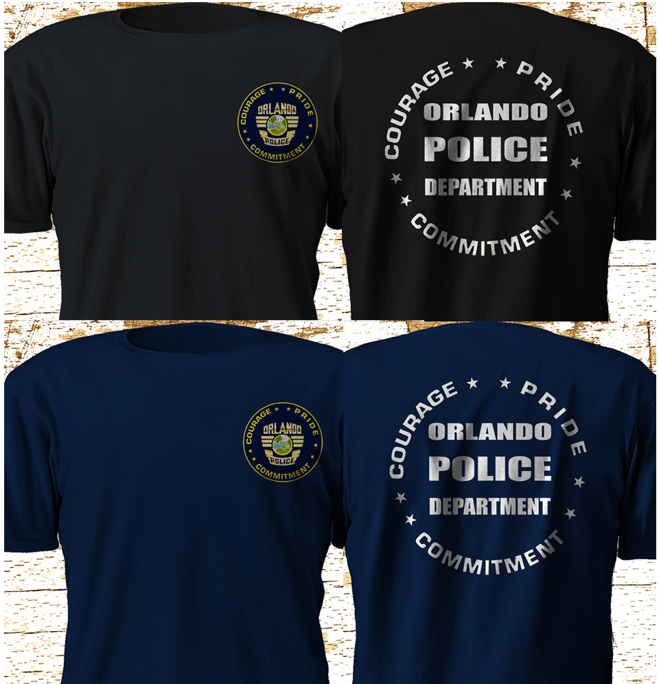 2019 Funny New Orlando Police Department Swat Black T Shirt S-3Xl Double Side Unisex Tee