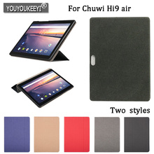 Original PU Leather Case For Chuwi HI9 AIR 10.1inch tablet, Protective stand cover For chuwi hi9 air Tempered glass film+gifts