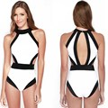 Sexy Burst models in Europe and America selling black and white spell color swimwear bikini Agent Provocateur bikini.