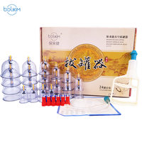 BOLIKIM 24Pcs Massage Cans Massager Health Monitors Product Vacuum Cans Vacuum Cupping Suction Massage Cupping Massage Bank Tank