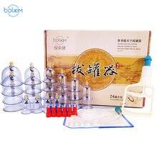 Bolikim 24 pçs latas de massagem massageador saúde monitores produto latas vácuo sucção cupping massagem cupping massagem banco tanque