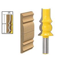 1pc 1 2 Shank Large Reversible Crown Molding Router Bit Line Knife Woodworking Cutter Tenon Cutter