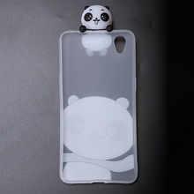 Phone Case For Oppo Transparent 3D Cartoon Panda Soft Tpu Anti Shock Silicone Protective Cover