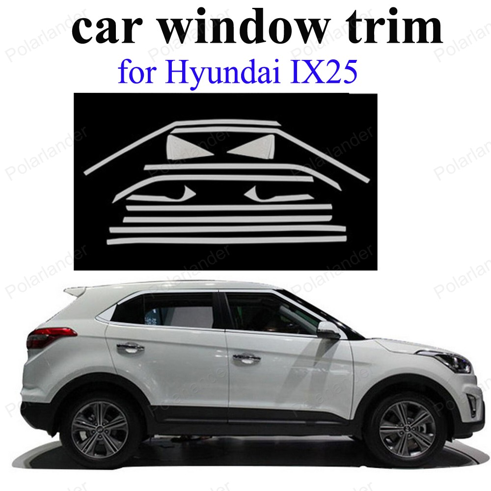 Car Styling Exterior Accessories Stainless Steel Decoration Strip For H Yundai Ix25 Window Trim