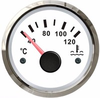 1pc Auto Gauges Water Temperature Gauges Water Temperature Meters 12v 24v Fit For Auto Or Boat