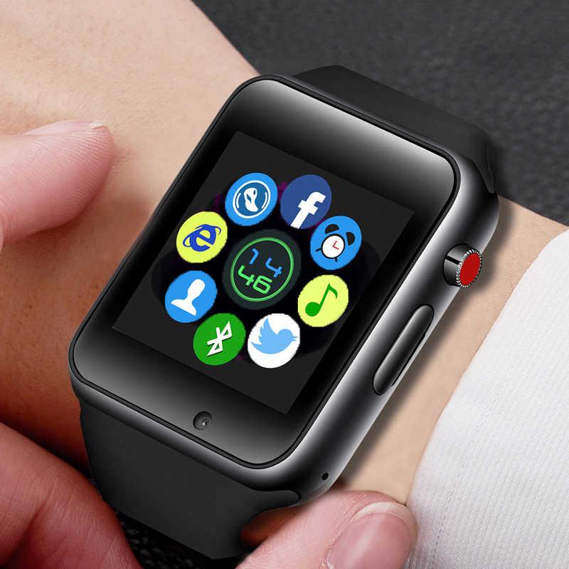 Ini 2019 Baru Pria Smart Watch Wanita Sport Pedometer LED Digital Arloji SIM Kamera Musik Player Smartwatch untuk Android + kotak