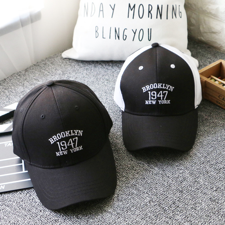 New Fashion Men's Baseball Caps Black White 1947 BROOKLYN Letters Embroidery Hip Hop Caps Sun Snapback Hats Bones For Men Women гирлянда электрическая lunten ranta сосулька 20 светодиодов длина 2 85 м