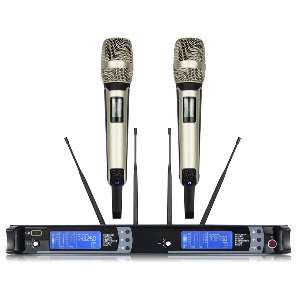 925-937MHz alta calidad profesional SKM9000 True Diversity micrófono inalámbrico de mano 900MHz ¡Oferta! micrófono de Karaoke para niños, juguete de aprendizaje de música fresco ajustable con efecto de luz, regalo de cumpleaños para niños, azul/rosa