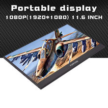 "11.6 ""1920X1080 IPS FHD Portable Monitor dengan HDMI USB Port Daya Shell Logam LCD Display untuk PS3/4 Raspberry Laptop TV Box CCTV(China)"