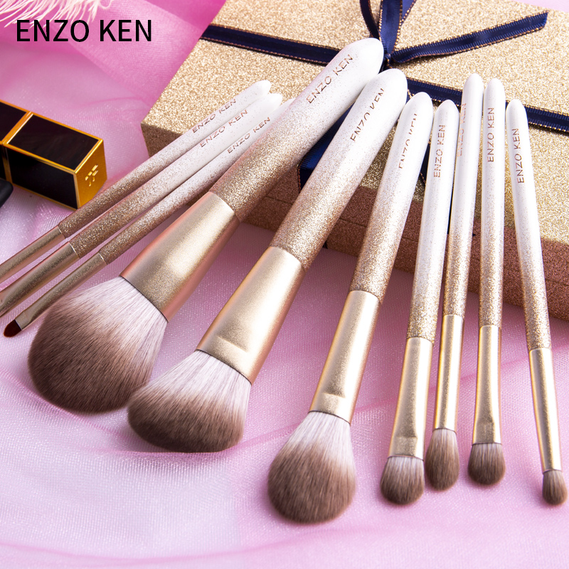 ENZO KEN 10 Pcs Makeup Brushes Set for Highlighting and Contouring Suitable for Eye and Face Makeup 4