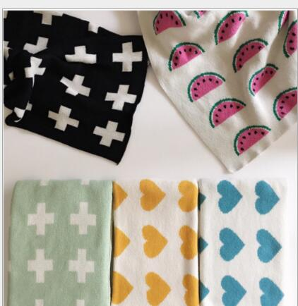 110*90cm Baby Blanket Black White Rabbit Swan Cross Knitted soft kids baby blankets newborn Bed Sofa throw blanket baby swaddle